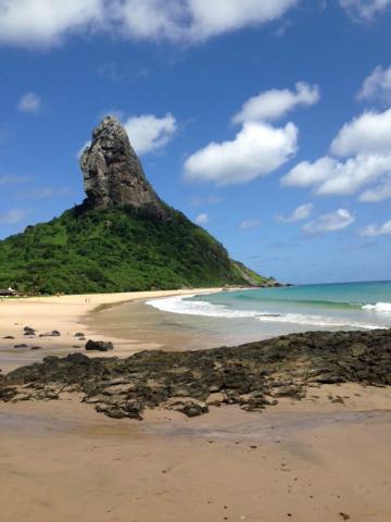 View of Morro do Pico from Praia da Conceição on Fernando de Noronha. (Courtesy/Brennan Karle)