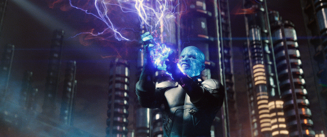 """Jamie Foxx stars as Electro in """"The Amazing Spider-Man 2."""" (Courtesy of Columbia Pictures)"""