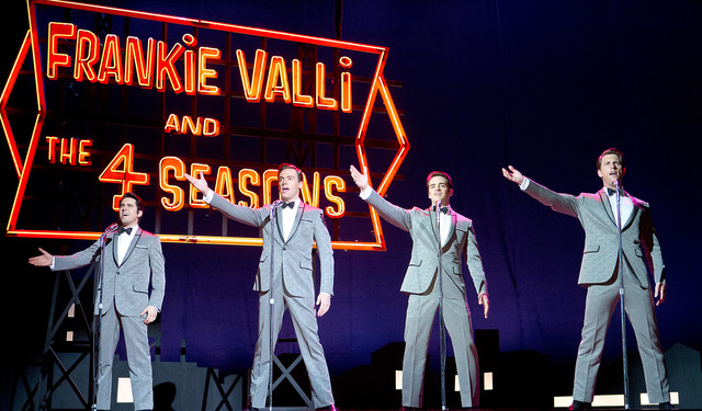 "From left, John Lloyd Young stars as Frankie Valli, Erich Bergen as Bob Gaudio, Vincent Piazza as Tommy DeVito and Michael Lomenda as Nick Massi in the film version of ""Jersey Boys."" (Keith Be ..."