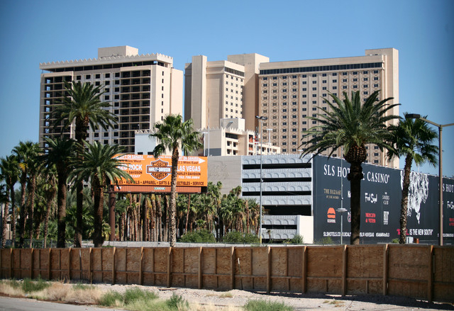 The construction site of the new SLS Las Vegas, formerly the Sahara hotel-casino, is shown Monday, Oct. 14, 2013, in Las Vegas. The mixed-use property, which is owned by Chief Executive Officer of ...