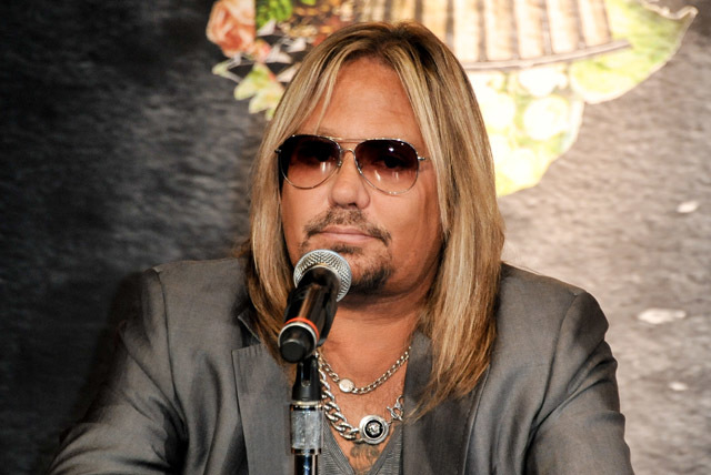 Vince Neil, seen here at a Motley Crue Press Conference on Jan 28, has been approved to start an Arena Football League team in Las Vegas. (Photo by Richard Shotwell/Invision/AP)