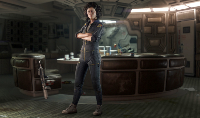 """This video game image provided by Sega shows the character Ellen Ripley, voiced by Sigourney Weaver, in a scene from """"Alien: Isolation."""" Weaver, who portrayed unflappable officer Ellen R ..."""