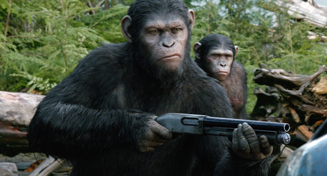 "This photo released by Twentieth Century Fox Film Corporation shows Andy Serkis as Caesar in a scene from the film, ""Dawn of the Planet of the Apes."" (AP Photo/Twentieth Century Fox Film ..."