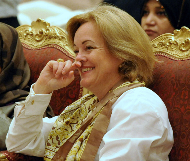 In this March 8, 2010 file photo, US Ambassador to Kuwait Deborah Jones is seen in Kuwait City. On Saturday, July 26, 2014, The United States shut down its embassy in Libya and evacuated its diplo ...