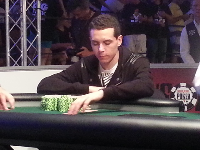 Hugo Pingray of France won the $1,500 buy-in No-Limit Hold 'em Monster Stack tournament at the World Series of Poker early Tuesday, July 1, 2014, at the Rio Convention Center. (David Schoen/Las  ...