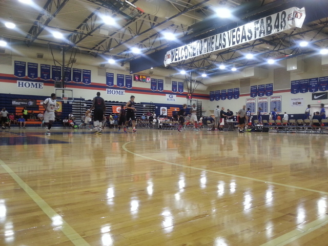 Friday's action of the Las Vegas Fab 48 tournament at Bishop Gorman. By W.G. Ramirez