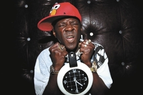 FILE- A New York grand jury will consider whether to indict entertainer Flavor Flav. The rapper and reality TV star, who lives in Las Vegas, was arrested while speeding to his mother's Long Isla ...