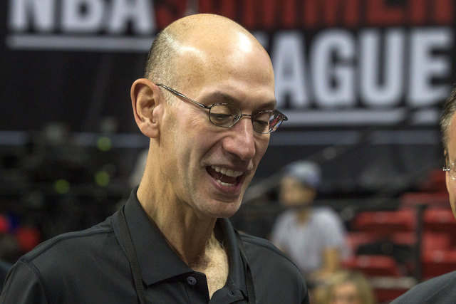 NBA commissioner Adam Silver attended the San Antonio Spurs vs. New Orleans Pelicans NBA Vegas Summer League game at Thomas & Mack on Monday, July 14, 2014. This year's Summer League has 24 teams  ...