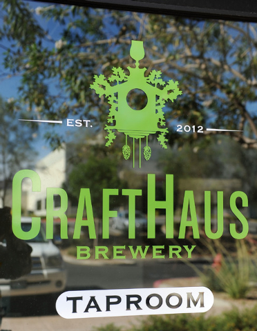 The logo for CraftHaus is seen at CraftHaus Brewery in Henderson, Friday, July 11, 2014. CraftHaus is slated to open in late summer or early fall. (Jerry Henkel/Las Vegas Review-Journal)