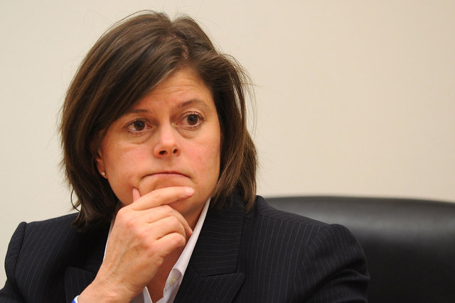 The Las Vegas City Council on Wednesday, July 16, 2014, gave City Manager Betsy Fretwell a 10 percent raise, increasing her salary to $221,490. (David Becker/Las Vegas Review-Journal file)
