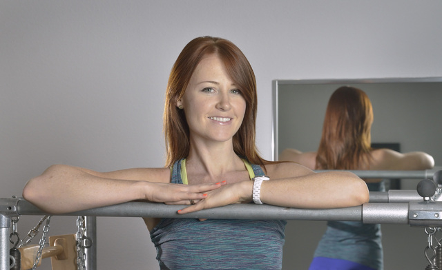 Juliet Lauren Clingan, owner of The Pilates Firm, is shown at the studio at 8359 W. Sunset Road in Las Vegas on Friday, June 20, 2014. (Bill Hughes/Las Vegas Review-Journal)