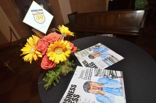 The 30th anniversary celebration for the Las Vegas Business Press was held at the Mob Museum at 300 E. Stewart Ave. in Las Vegas on Thursday, June 26, 2014. (Bill Hughes/Las Vegas Review-Journal)