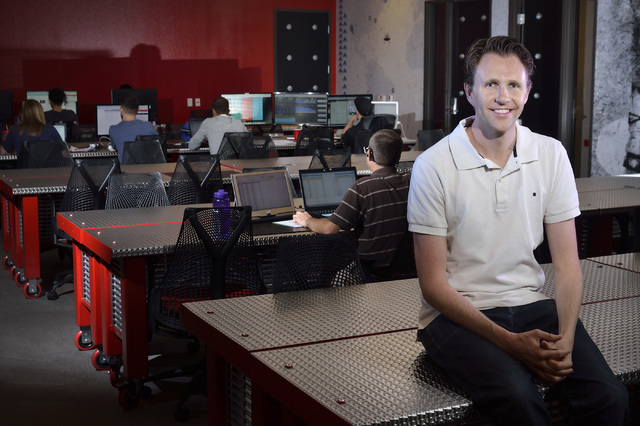 Rob Meadows, partner and CEO of software development and venture capital firm Originate, is shown at The Innevation Center at 6795 Edmond St. in Las Vegas on Monday, July 21, 2014. (Bill Hughes/La ...