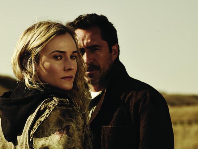 "Diane Kruger as Sonya Cross and Demian Bichir as Marco Ruiz star in FX's ""The Bridge."" (Frank Ockenfels/FX)"