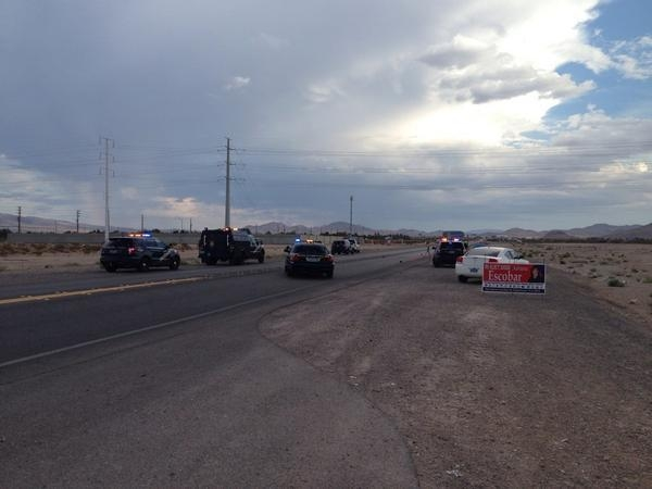 A fatal accident on Las Vegas Blvd is shown. (Courtesy Nevada Highway Patrol)