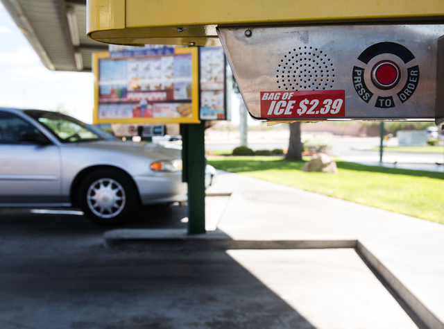 Sonic Drive-In at 7390 W. Cheyenne Ave. is photographed Friday, July 11, 2014. (Samantha Clemens-Kerbs/Las Vegas Review-Journal)
