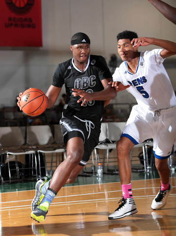 Cleveland's Carlton Bragg of Ohio Basketball Club drives to the basket during adidas' Super 64 tournament at the Cashman Center. (Special to Review Journal)