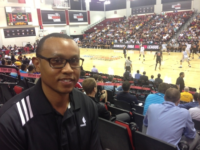 Chris Gilbert, 31, Sacramento Kings coordinator of basketball operations, is only a few years removed from serving as an intern for the same event. (Alan Snel)