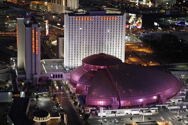 An aerial shot of Circus Circus hotel-casino (Duane Prokop/Las Vegas Review-Journal)