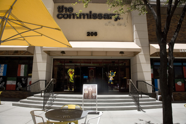 The exterior view of the main entrance to The Commissary restaurant located at 206 N. Third St. in Las Vegas on Friday, July 11, 2014. (Jeferson Applegate/Las Vegas Review-Journal)