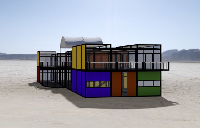 Artist's rendering of the mini container park proposed by the World Famous Gold & Silver Pawn Shop in downtown Las Vegas. Submitted Thursday July 17, 2014. (Courtesy  World Famous Gold & Silver Pa ...