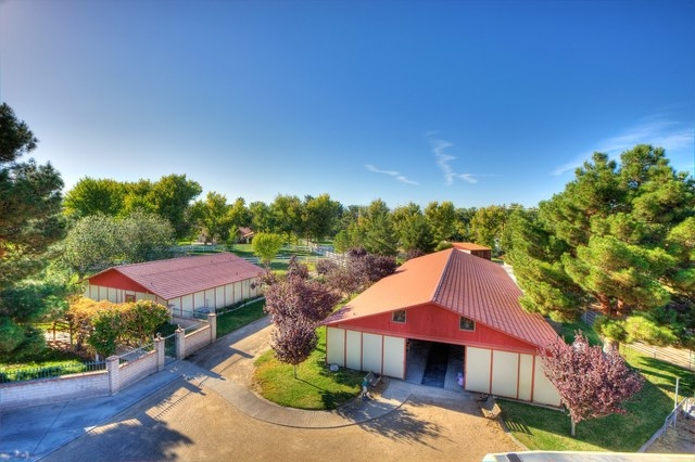 Courtesy photo The Primm compound features a 10-stall equestrian center with a one-bedroom apartment. The barn has two washing stalls and a tack room with clostes. Also, there is a pasture, 100-fo ...