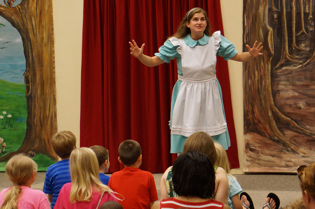 """Cara Liebert performs in a touring production of """"Alice in Wonderland,"""" put on by the Hampstead Stage Company. The theater company plans free productions of the show from 11 a.m. to noon July  ..."""