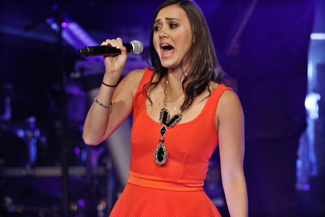 The Voice Season 1 runner-up Dia Frampton performing as part of The Voice Tour at Cobb Energy Centre on Sunday, June 29, 2014, in Atlanta. (Photo by Robb D. Cohen/Invision/AP)