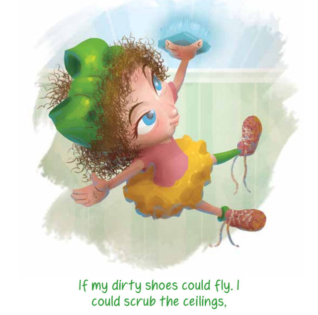 "Sarah Hoover lets her imagination take flight in the children's book ""If My Dirty Shoes Could Fly."""