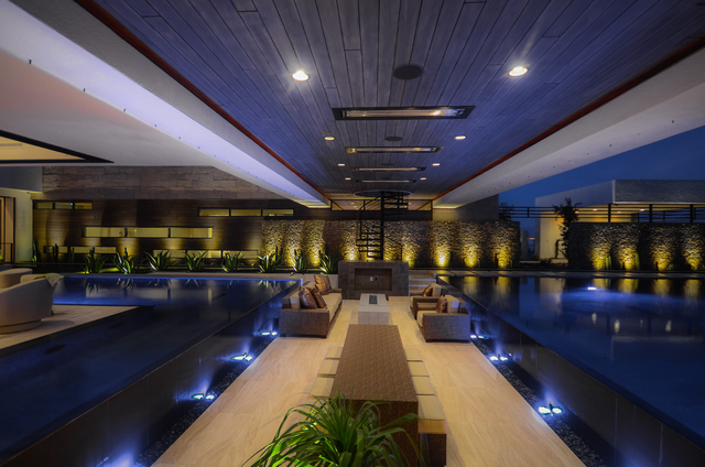 Courtesy Blue Heron Anthony & Sylvan Pools was awarded a 2014 Pinnacle Award from Luxury Pools magazine for this construction that was showcased at the 2013 National Association of Home Builders I ...