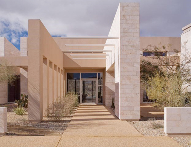 Courtesy photo  This contemporary desert home was built for Michael and Jenna Morton in Rim Rock at The Ridges in Summerlin.