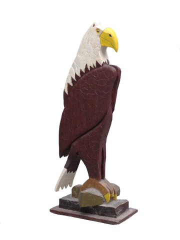 Cowles Syndicate Inc. Sometimes you get a bargain at an auction. This carved wooden eagle sold in March for $47 at Copake auction in Copake, N.Y.