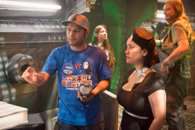 "Henderson director Shahab Zargari speaks with the cast behind the scenes on the set of ""The Crystal Crypt."" The film is set to screen at 5 p.m. Aug. 7 at the Gibson Library, 100 W. Lake Mead Parkw ..."