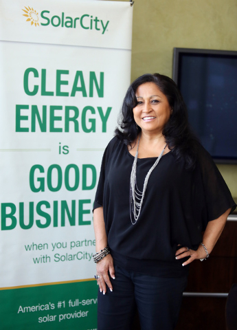 Annette Bubak, builder sales manager of SolarCity, is co-founder of the Green Alliance. (Ronda Churchill/Las Vegas Review-Jounal)
