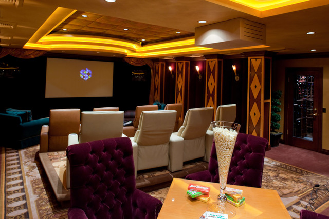 Courtesy photo Next to the game room is a large home theater, which is controlled by Creston system. It also has a small wine cellar and humidor.