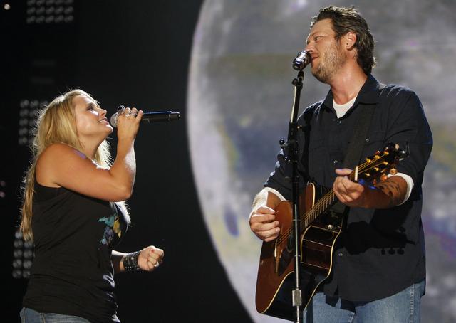 Miranda Lambert and Blake Shelton (AP Photo/Wade Payne, File)