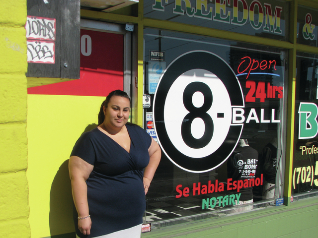 Alyssa Pamplona, office manager of 8-Ball Bail Bonds, 1114 S. Main St., said business ebbs and flows but seems to pick up in the summer. (F. Andrew Taylor/View)