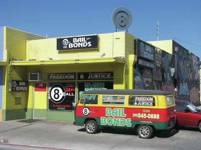 The decor of 8-Ball Bail Bonds, 1114 S. Main St. is designed to draw the eye. Much of the building's look were inspired by the owner's visit to Jamaica. (F. Andrew Taylor/View)
