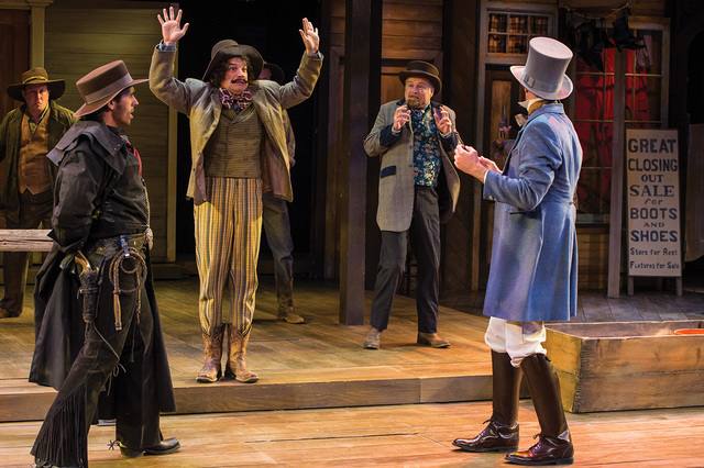 A scene from the Utah Shakespeare Festival's 2014 production of The Comedy of Errors. (Photo by Karl Hugh. Copyright Utah Shakespeare Festival 2014.)