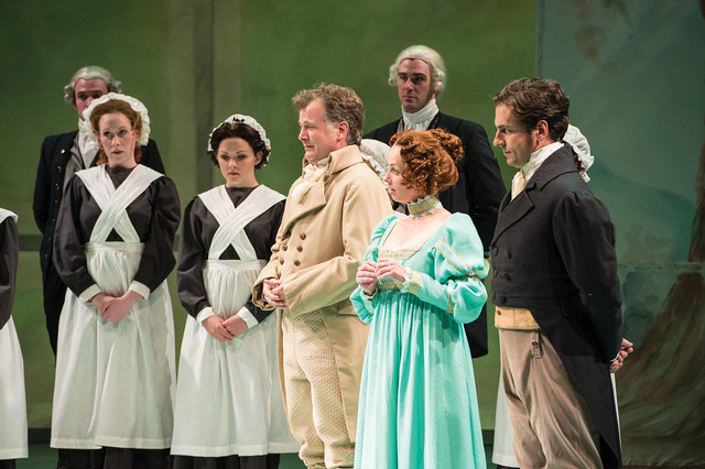 A scene from the Utah Shakespeare Festival's 2014 production of Sense and Sensibility. (Photo by Karl Hugh. Copyright Utah Shakespeare Festival 2014.)