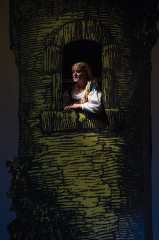 Samantha Allred as Rapunzel in the Utah Shakespeare Festival's 2014 production of Into the Woods. (Photo by Karl Hugh. Copyright Utah Shakespeare Festival 2014.)