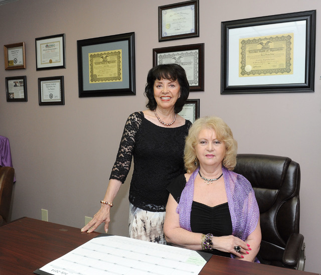 Juanita Curiel, left, and Linda Shore operate the hypnotherapy business Consulting Hypnotherapy of Nevada, 4045 Spencer St., Suite B22A. The two are licensed hypnotherapists who use hypnosis to he ...