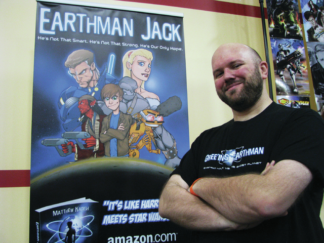 "Matthew Kadish's first young adult e-book, ""Earthman Jack vs. The Ghost Planet,"" sold more than 600 copies during the first few days of its release, he said. (F. Andrew Taylor/View)"