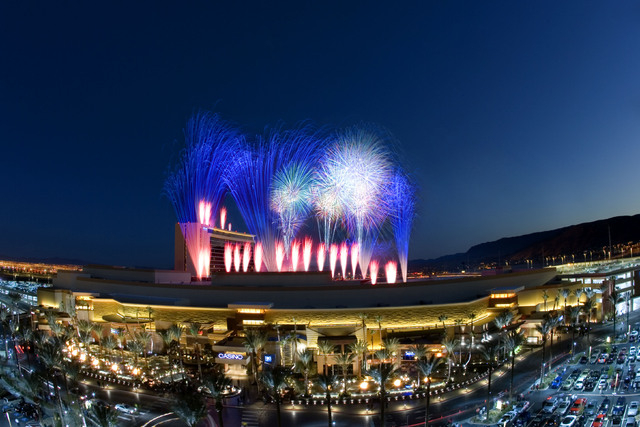 The Red Rock Resort, 11011 W. Charleston Blvd., shoots off fireworks on July 4, 2013. The resort said it will repeat the show this year. (Special to View)