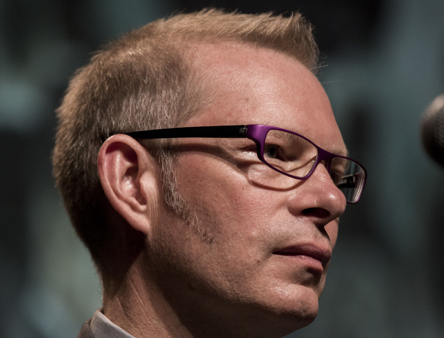 """Speaker Matt Kibbe, president and CEO of FreedomWorks,  during panel discussion entitled """"NSA, TSA, IRS: Are Big Brother & the Thought Police Here?""""  during FreedomFest at Planet Hollywo ..."""