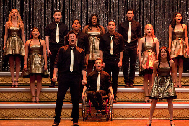 "In this 2010 publicity file image released by Fox, the cast of ""Glee,"" perform ""Don't Stop Believing"" in the season finale episode of the series which aired on June 8, 2010. Glum news for ""Glee""   ..."