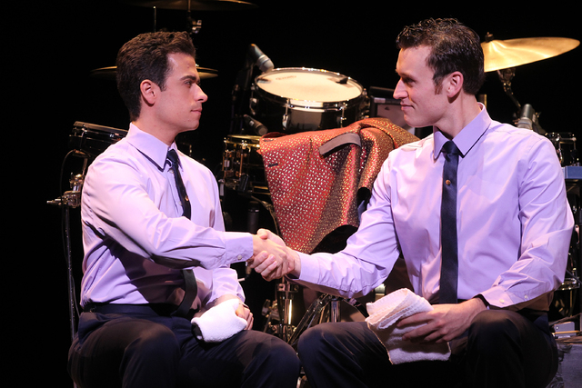 "Graham Fenton and Rob Marnell in ""Jersey Boys."" (Joan Marcus/Courtesy)"
