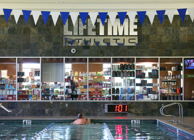 The indoor lap pool is shown at Life Time Athletic, located at 10721 W. Charleston Blvd., Wednesday, June 18, 2014, in Las Vegas. Life Time Athletics opened in 2011 and plans to expand in the Gree ...