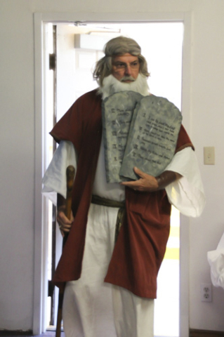 Moses was one of the special guests during the Henderson United Methodist Church vacation Bible school. (Courtesy)