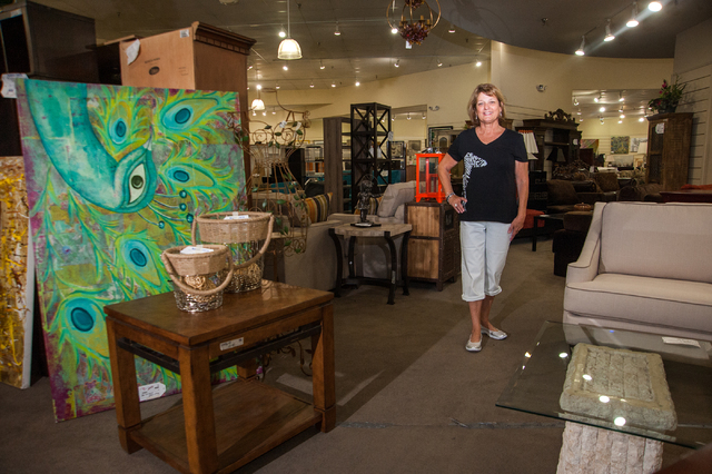 Colleen's Classic Consignment owner Colleen Aiken poses inside her 3071 N. Rainbow Blvd. location Tuesday, July 8, 2014. (Martin S. Fuentes/Las Vegas Review-Journal)